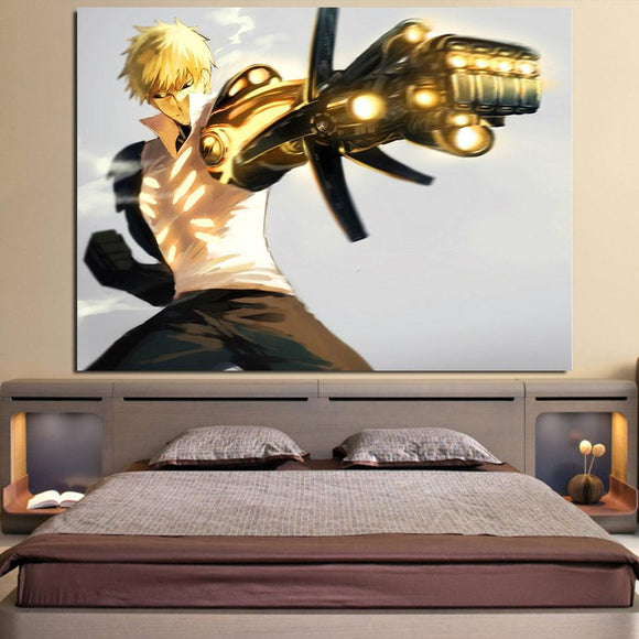 One-Punch Man Angry Genos The Demon Cyborg 5pcs Canvas Print