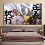 One-Punch Man Extraordinary Saitama Baldy Hero 3pcs Wall Art