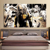 One-Punch Man Fierce Saitama Swag Finishing Move 3pcs Canvas
