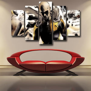 One-Punch Man Fierce Saitama Swag Finishing Move 5pcs Canvas