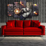 One-Punch Man Genos Handsome Cyborg Robot 5pcs Canvas Print