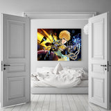 One-Punch Man Genos Serious Cyborg Vibrant 1pc Canvas Print