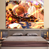 One-Punch Man Handsome Serious Genos Portrait 1pc Wall Art