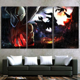 One-Punch Man Powerful Saitama In The Rain 3pcs Canvas Print