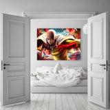 One-Punch Man Saitama Ready To Fight Realistic 1pc Wall Art