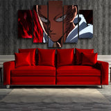 One-Punch Man Serious Saitama Deadly Expression 5pcs Canvas