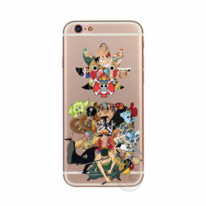 One Piece D.Luffy Anime Characters Collection Case Apple iPhone 5 6 7 S - Konoha Stuff