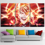 One Piece Sanji Black Leg Flamming Ablaze Orange 3pcs Canvas