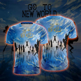 One Piece Straw Hat Crew Silhouette Go To New World T-Shirt