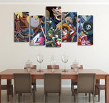 One Piece Straw Hat Crew Space Pirates And Gundam 5pcs Canvas