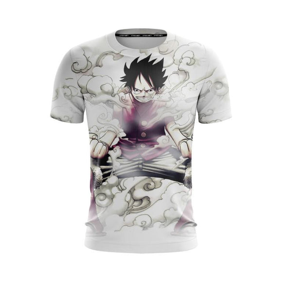 One Piece Straw Hat Luffy Gear Second Pose White T-Shirt