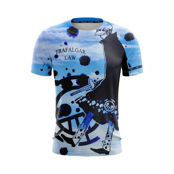 One Piece Trafalgar Law Surgeon Of Death Cool Blue T-Shirt