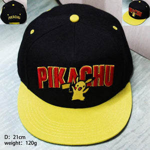 Pokémon Cartoon Pikachu Hip Hop Baseball Hat Cap Snapback - Konoha Stuff