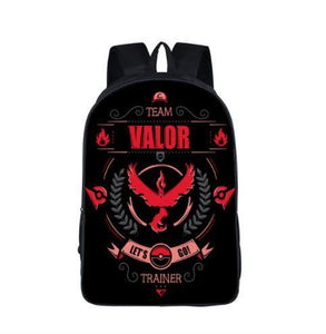 Pokemon GO Team Valor Trainer Symbol School Bag Backpack