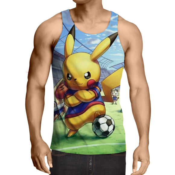 Pokemon Pikachu Cute Soccer Player Confident Dope Style Tank Top