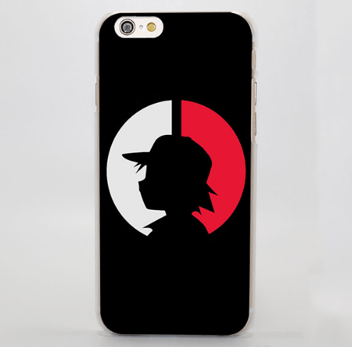 Pokemon Satoshi Shadow Simple Cool iPhone 4 5 6 7 Plus Case
