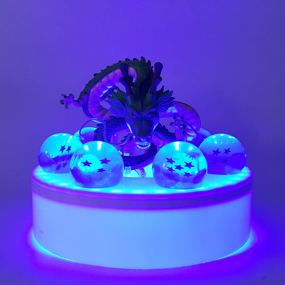 DBZ Shenron 1-7 Stars Dragon Balls Set Blue DIY 3D Light Lamp