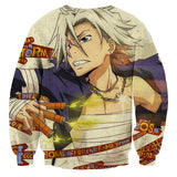Reborn! Anime Hayato Gokudera Hot-Headed Silver Sweatshirt