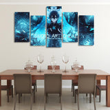 SAO Alicization Kirito Eugeo Blue Asymmetrical 5pcs Canvas