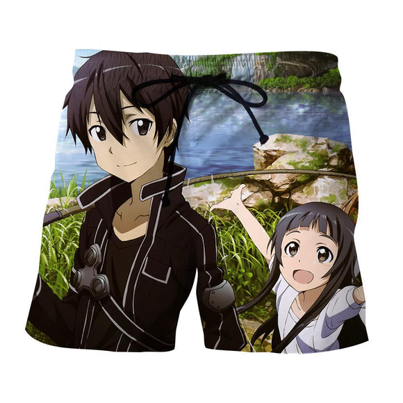 SAO Kirito With Yui Father And Daughter Bonding Boardshorts