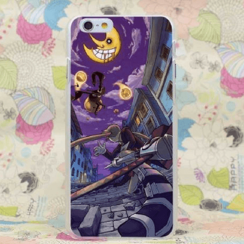 Soul Eater Maka Moon Symbol Decal Skin iPhone 4 5 6 7 Plus Case