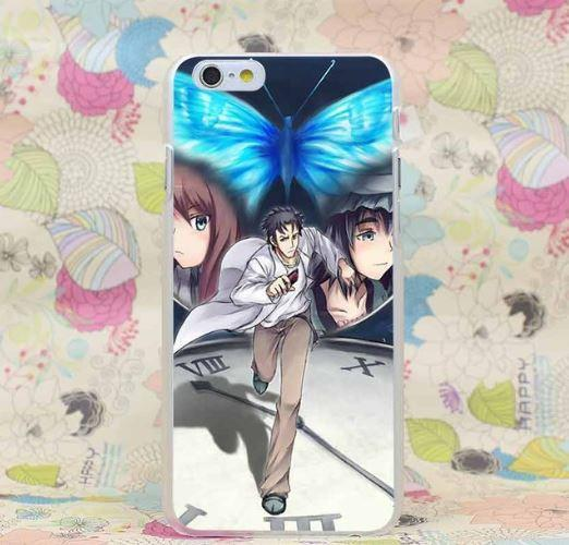 Steins Gate Main Characters Running Time iPhone 4 5 6 7 Plus Case