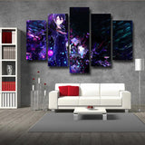 Sword Art Online Crystalized Kirito Cold Eyes 5pcs Wall Art