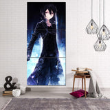 Sword Art Online Kirito Charming Smile 3pcs Vertical Canvas