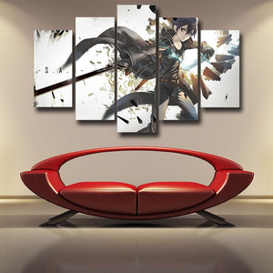 Sword Art Online SAO Kirito Sword Wielding Hero 5pcs Canvas
