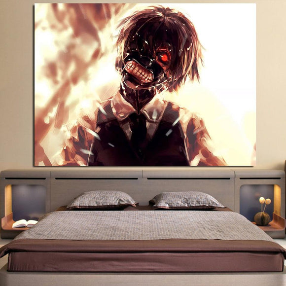 Tokyo Ghoul Anime Super Creepy Ken Kaneki 1pc Wall Art Decor
