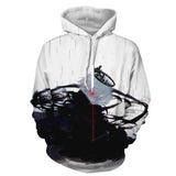 Tokyo Ghoul Kaneki Ken With Crown And Kakugan White Hoodie