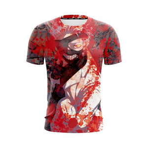 Tokyo Ghoul Kaneki Ken With Eyepatch And Bloodstains T-Shirt