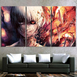 Tokyo Ghoul Kaneki Shattered Glass Mirror 3pcs Wall Art Decor
