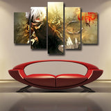 Tokyo Ghoul Ken Kaneki Bright Trendy Fighting 5pcs Wall Art