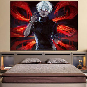 Tokyo Ghoul Ken Kaneki Ready To Fight Dope 1pc Canvas Print