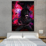 Tokyo Ghoul Masked Kaneki Red Eyes One-Eyed King 1pc Canvas