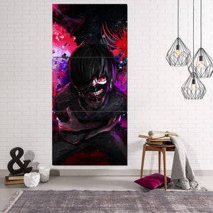 Tokyo Ghoul Masked Kaneki Red Eyes One-Eyed King 3pcs Canvas