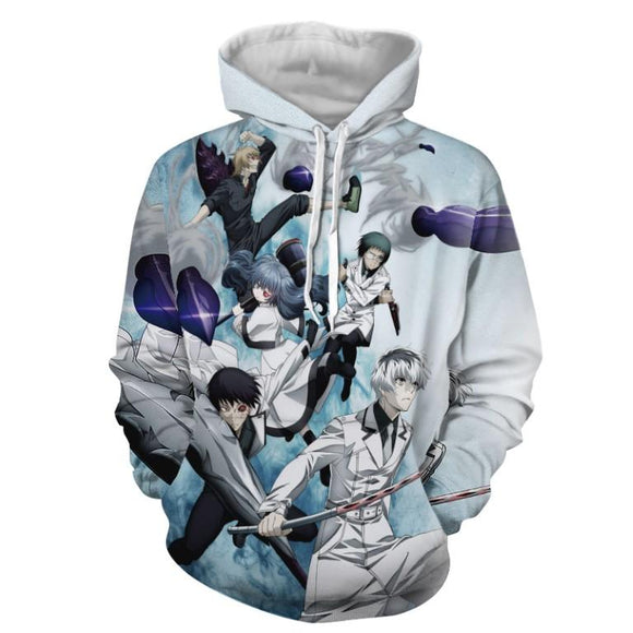 Tokyo Ghoul The Quinx Squad Ghoul Investigator Blue Hoodie