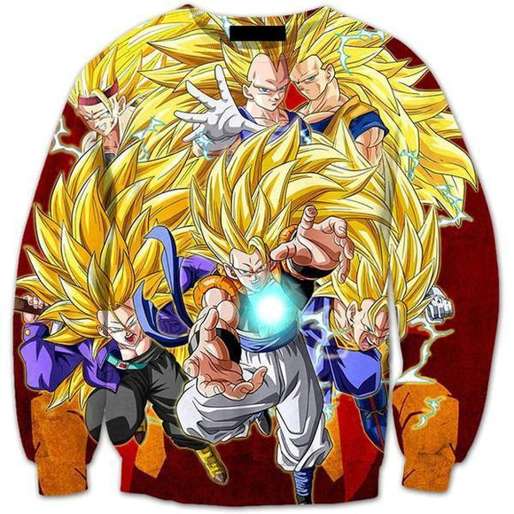 Ultimate Super Saiyan SSJ3 Fusion Warriors Premium 3D Sweatshirt - Saiyan Stuff
