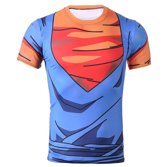Vegetto Vegito Goku Vegeta Fusion Cosplay 3D Fitness T-Shirt