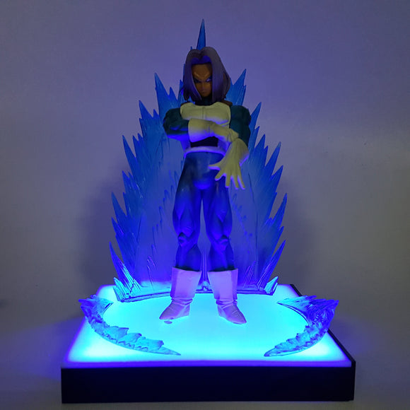 DBZ Serious Future Trunks Saiyan Armor Blue Aura DIY 3D LED Light Lamp