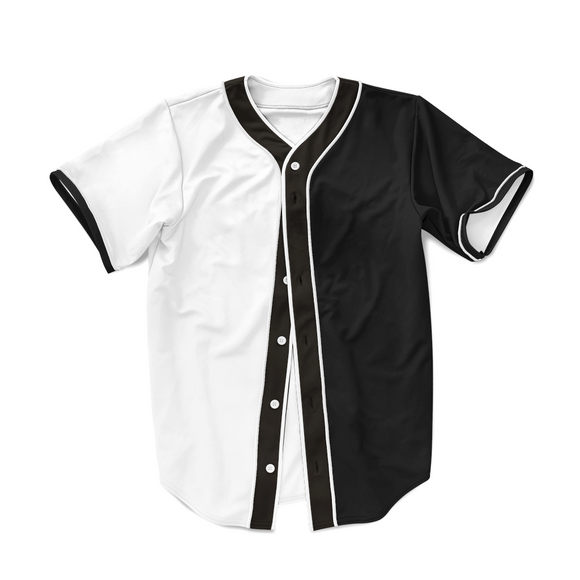 Trendy Black and White Fashionable Hip Hop Baseball Jersey