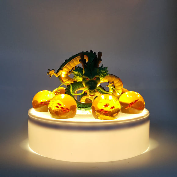 DBZ Green Shenron 1-7 Stars Dragon Balls Set White DIY 3D Light Lamp