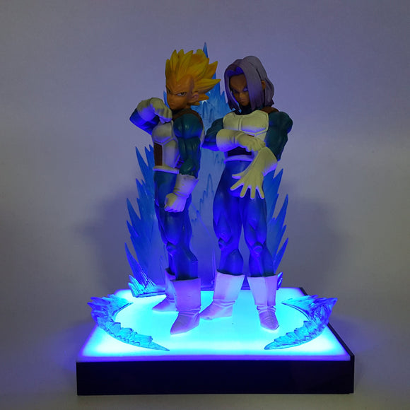 Vegeta Super Saiyan & Future Trunks Father Son Blue DIY 3D Light Lamp
