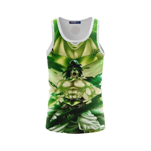 Legendary Super Saiyan Strong Broly Green Tank Top