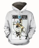 Soul Eater The Fearless Atsushi Ohkubo White Comfy Hoodie