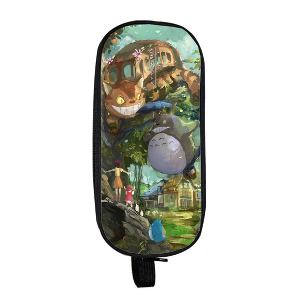 My Neighbor Totoro Cute Big Totoro And Catbus Pencil Case