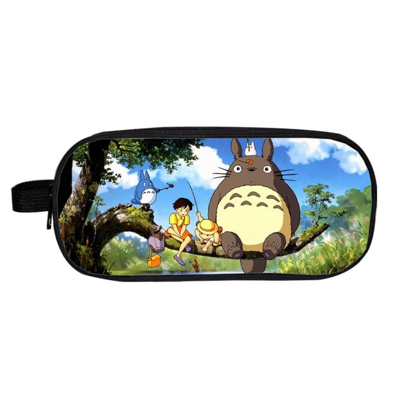 My Neighbor Totoro Big Totoro Mei And Satsuki Pencil Case