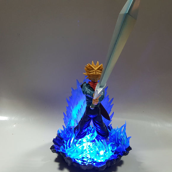 DBZ Future Trunks Super Saiyan Tapion Sword Blue Aura DIY 3D Light Lamp