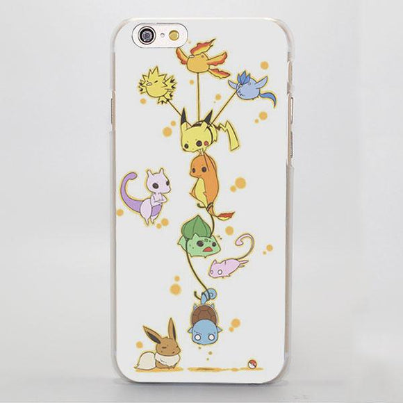 Pokemon Pikachu Charmander Bulbasaur Playing iPhone Case